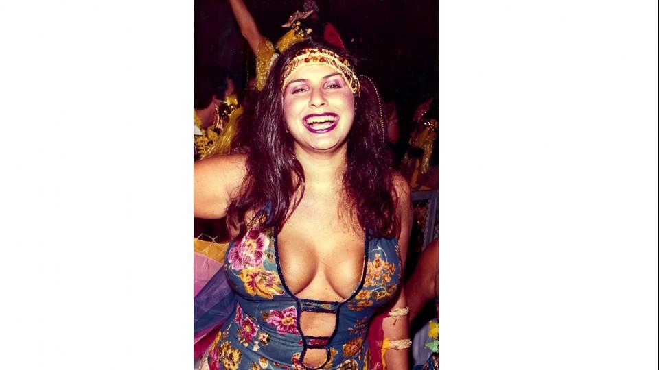 À esq., no Carnaval em Belém, em 1975