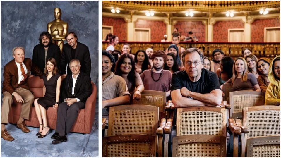Os candidatos ao Oscar de Melhor Diretor em 2004, Clint Eastwood, Peter Jackson (que ficou com a estatueta), Sofia Coppola, Meirelles e Peter Weir