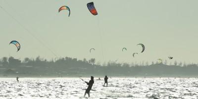 Do Ceará ao Piauí de kitesurf