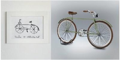Desenhe uma bicicleta