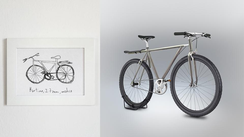 Bicicleta de Martini, 27 anos, médico.