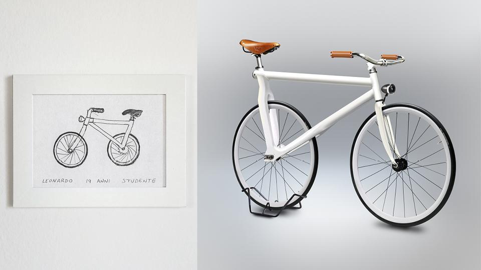 Bicicleta de Leonardo, 19 anos, estudante
