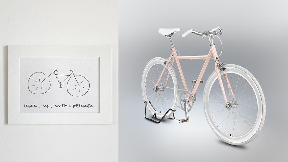Bicicleta de Marco, 26 anos, designer gráfico