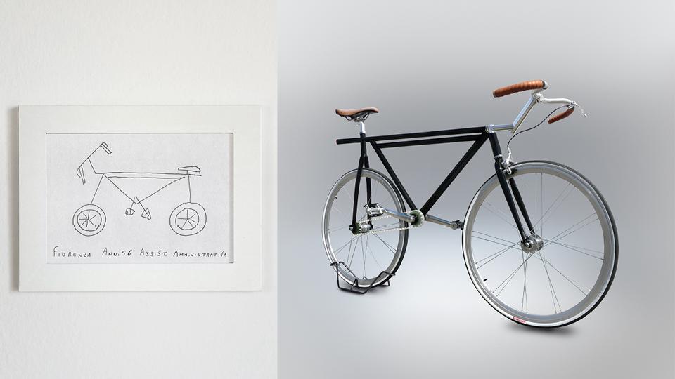 Bicicleta de Fiorenza, 56 anos, assistente administrativa