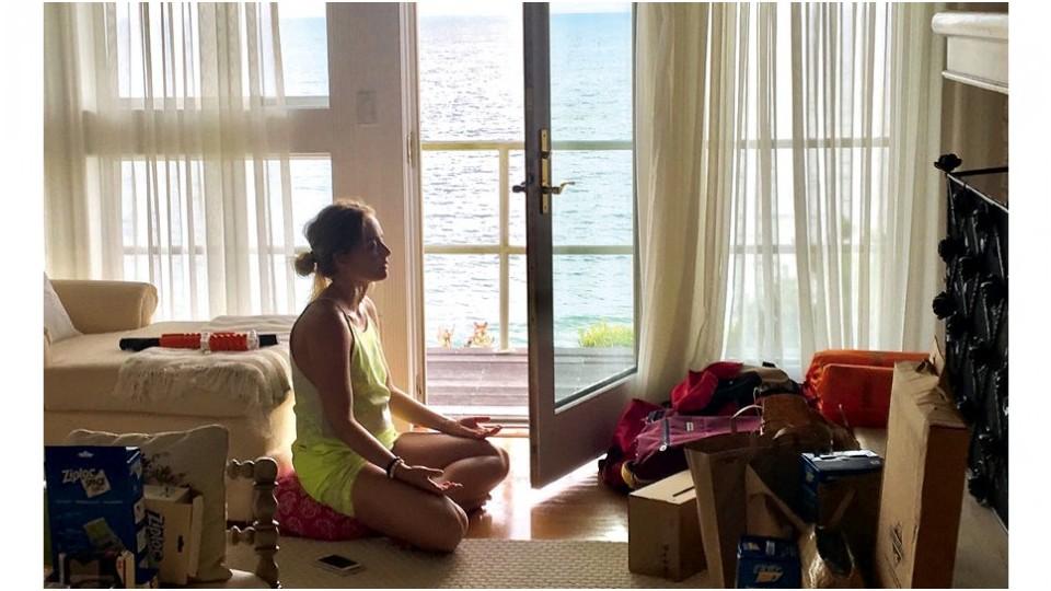 Meditando, em Miami, em 2016