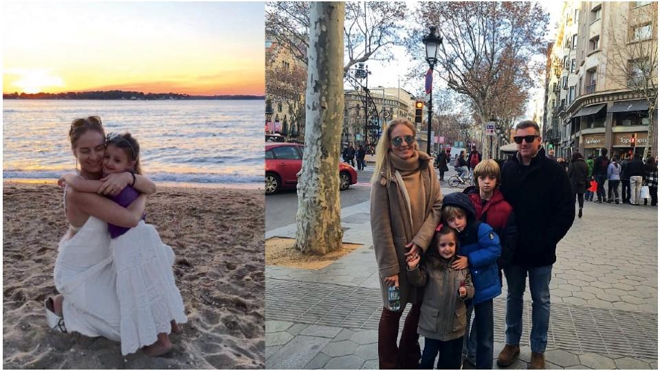 Férias de verão nos Hamptons, nos Estados Unidos, em julho de 2016; em Barcelona, em janeiro de 2016
