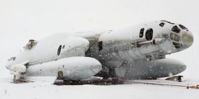 Monumentos soviéticos abandonados no gelo