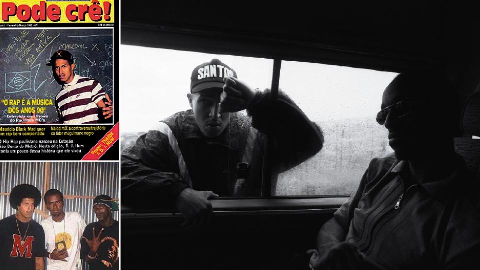 Capa de revista em 1993; com Sabotage (à direita) em 2002; no carro, com Blue, em 1997
