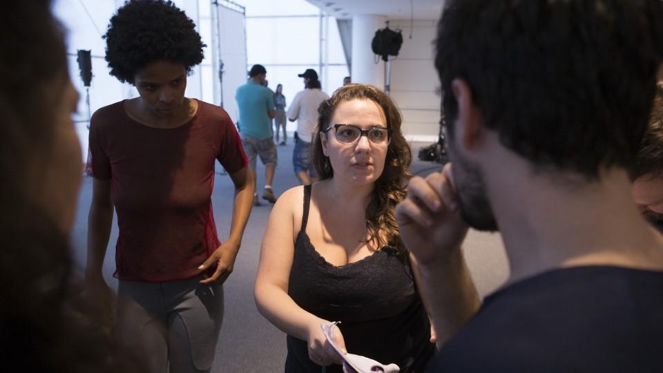 Dirigindo atores Vaneza Oliveira e Rodolfo Valente
