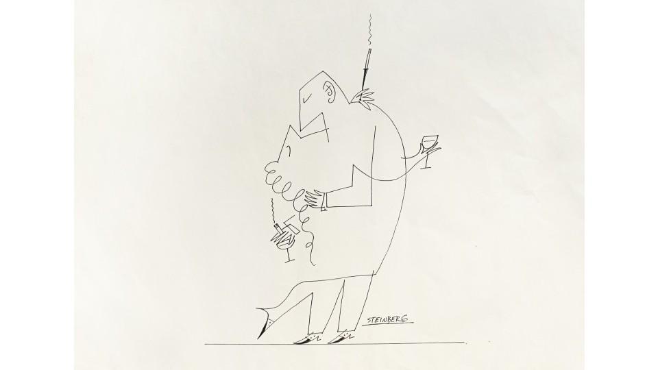 Desenho de Saul Steinberg