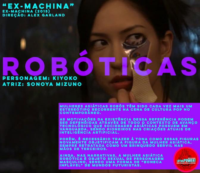 """""""EX-MACHINA"""" (2015) Diretor: Alex Garland Personagem: Kiyoko  Atriz: Sonaya Mizuno"""