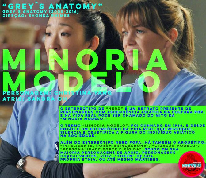 """GREY`S ANATOMY"" (2005-2016) Direção: Shonda Rhimes Personagem: Christina Yang Atriz: Sandra Oh"
