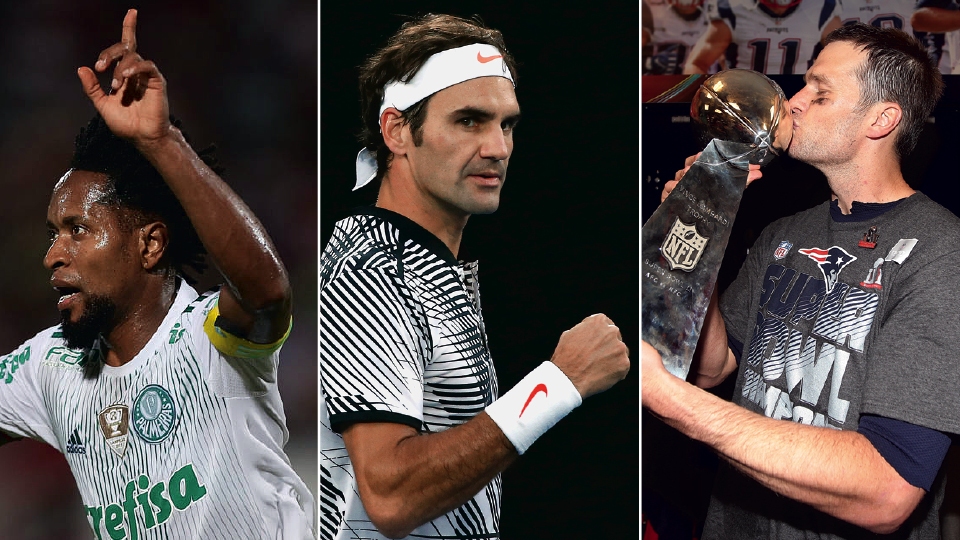 Zé Roberto, Roger Federer e Tom Brady