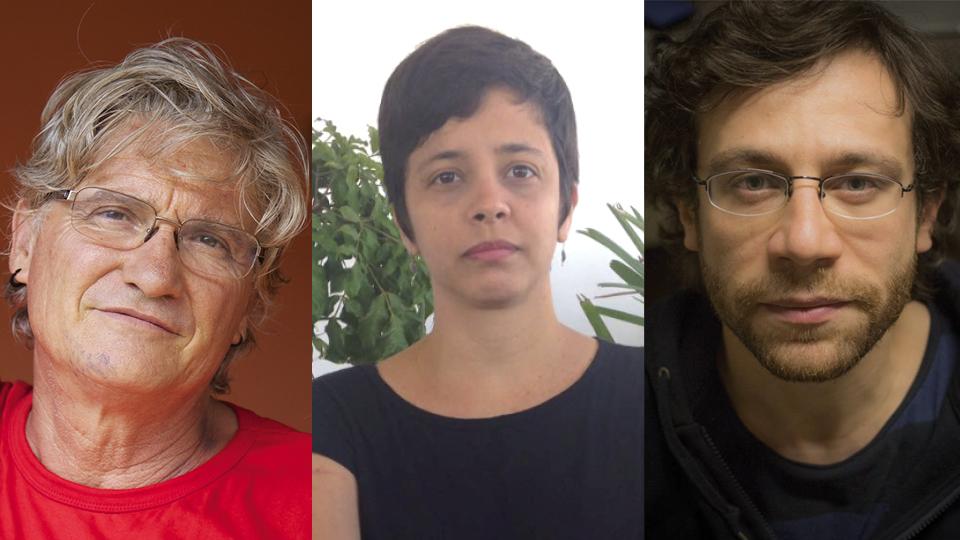 """Os diretores de """"Martírio"""": Vincent Carelli, Ernesto de Carvalho e Tita"""