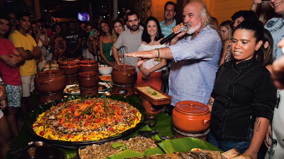 Apresentando o Festival Gastronômico no mês passado