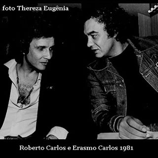 Roberto Carlos no lançamento do LP de Erasmo Carlos no Mistura Fina. Foi o único evento fora do palco que vi Roberto Carlos ao vivo e a cores.