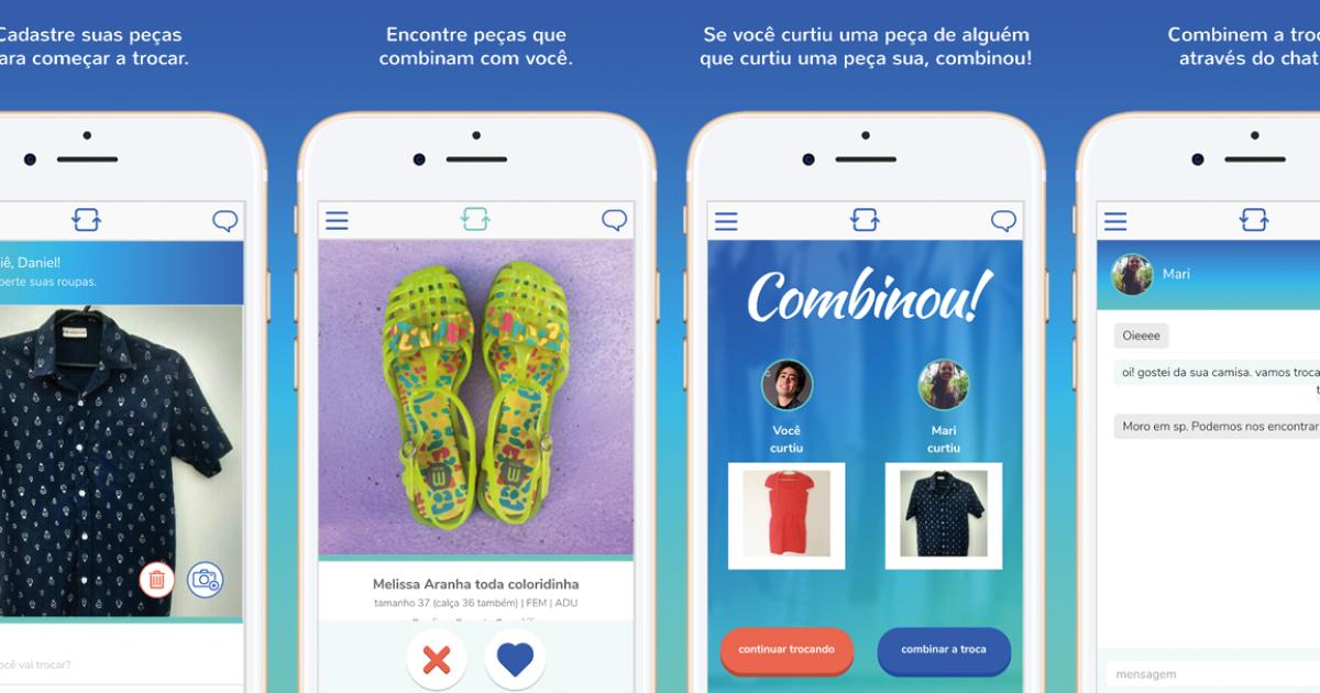 1d749bdaf Tinder de roupa, app Roupa Livre, troca de roupa - Tpm