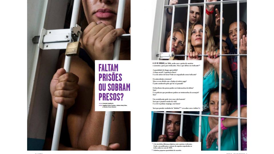 Uma das páginas da revista