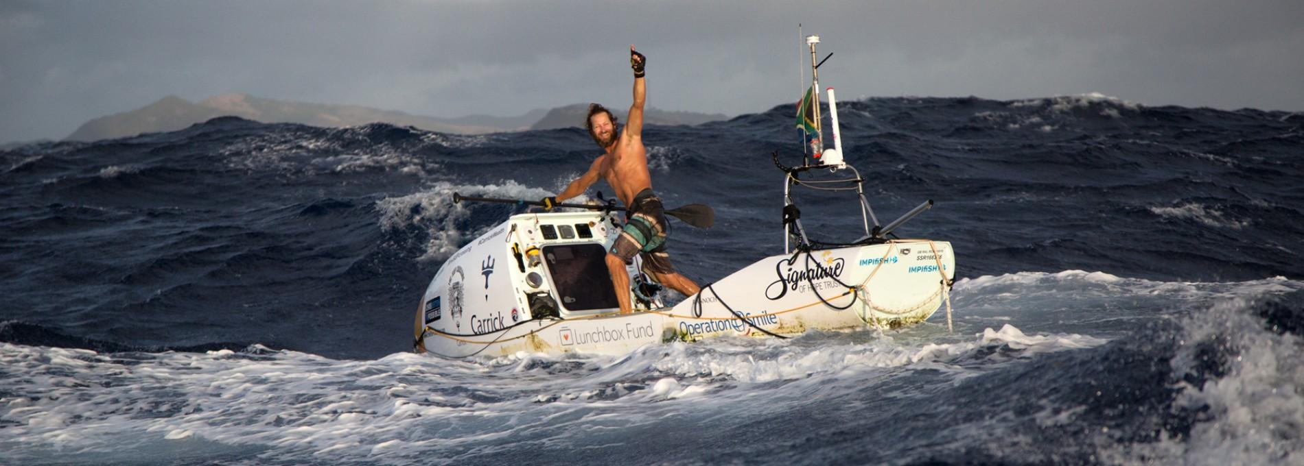 Pelo oceano atlântico de SUP