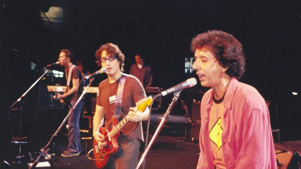 Sean Lennon e Arnaldo Baptista em ensaio para apresentação no Free Jazz Festival, em 2000