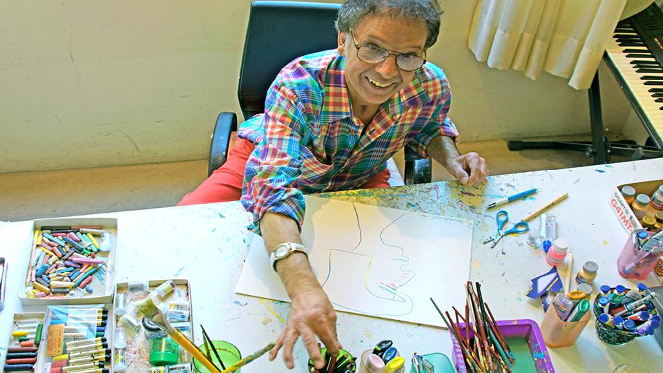 Arnaldo fez da pintura uma janela de sua mente tanto quanto era a música