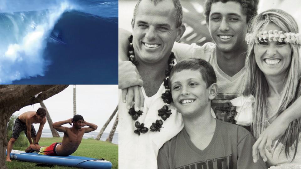 Tubo em Nazaré que colocou Lucas no páreo da Onda do Ano; com o pai Gustavo Chumbão, a mãe, Michelle Cabral, e o irmão João Vitor; treinamento com Carlos Burle no Havaí