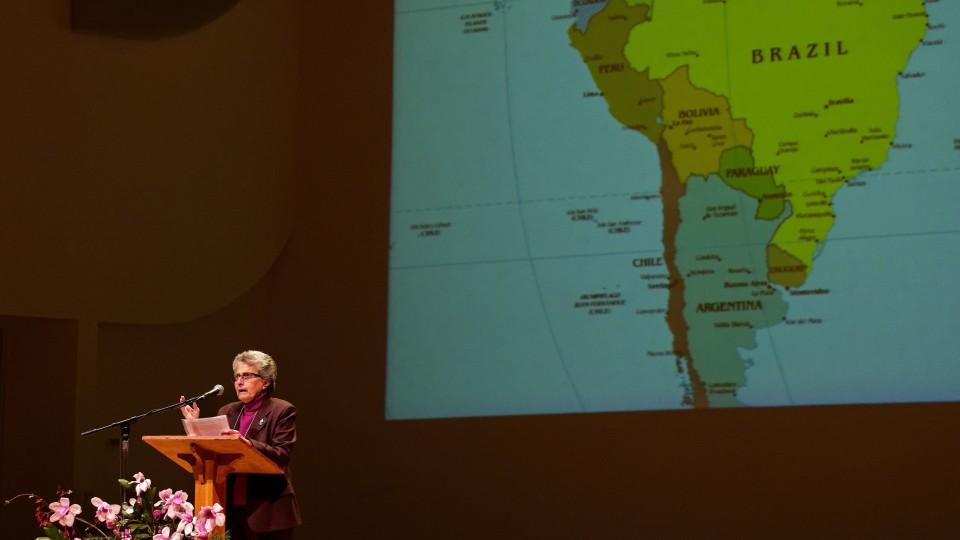 Ivone Gebara em discurso na Wake Forest University (EUA) - 2014