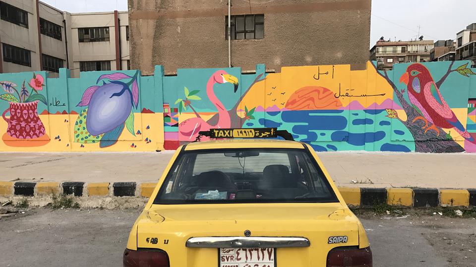 As cores dos Cosmic Boys na Síria