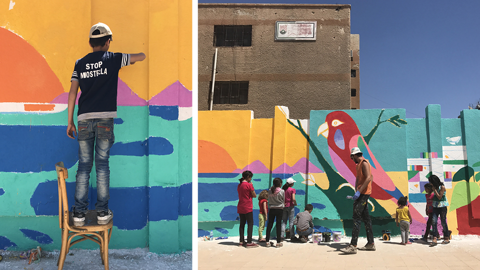Oficinas de arte no Oriente Médio