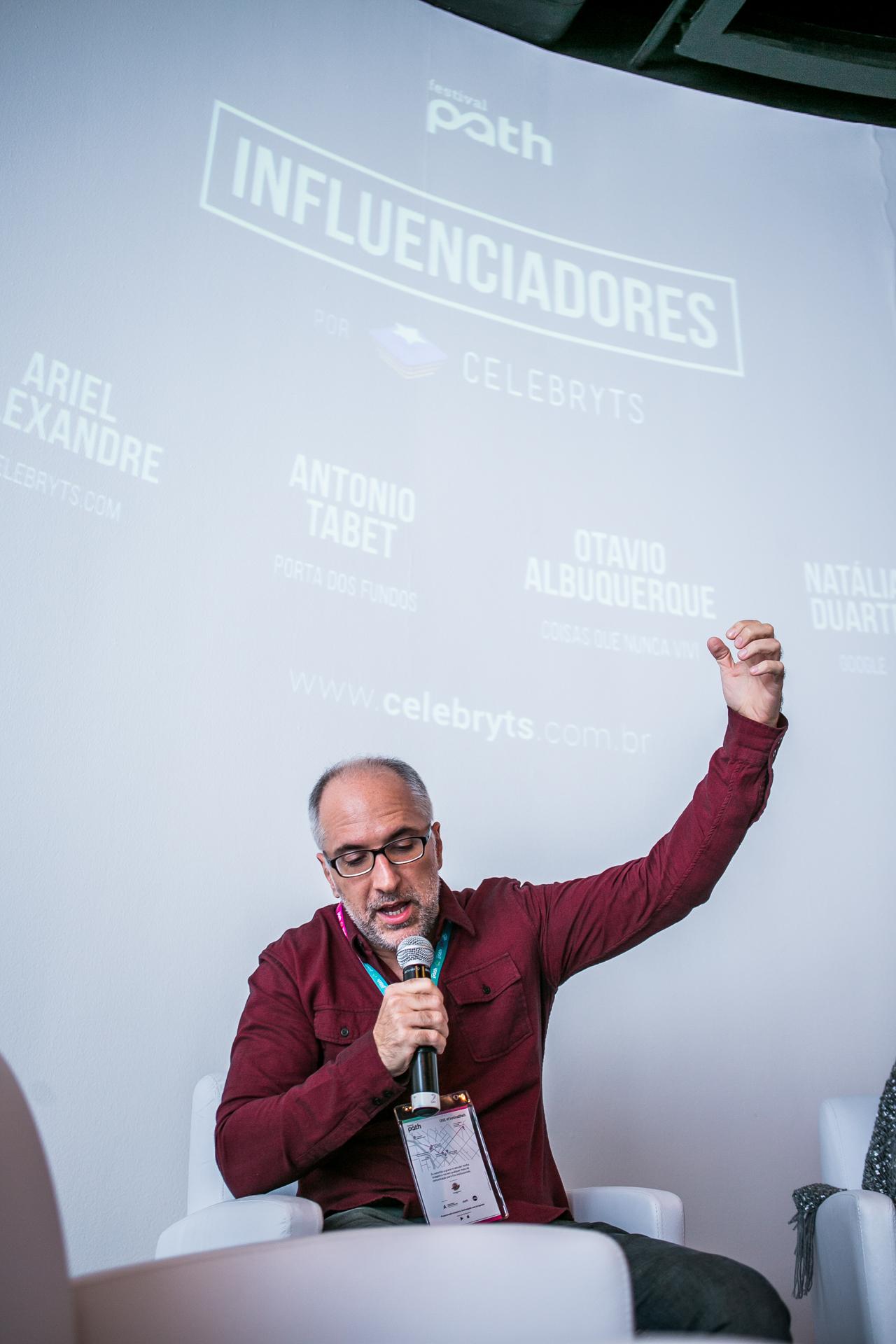 Antônio Tabet, que palestrou sobre o futuro do mercado dos youtubers