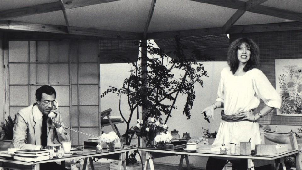 No alto, no Tv Mulher, com Ney Gonçalves Dias