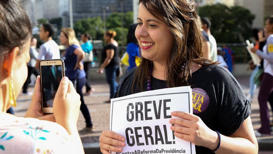 Em campanha pela Greve Geral do dia 28 de Abril de 2017