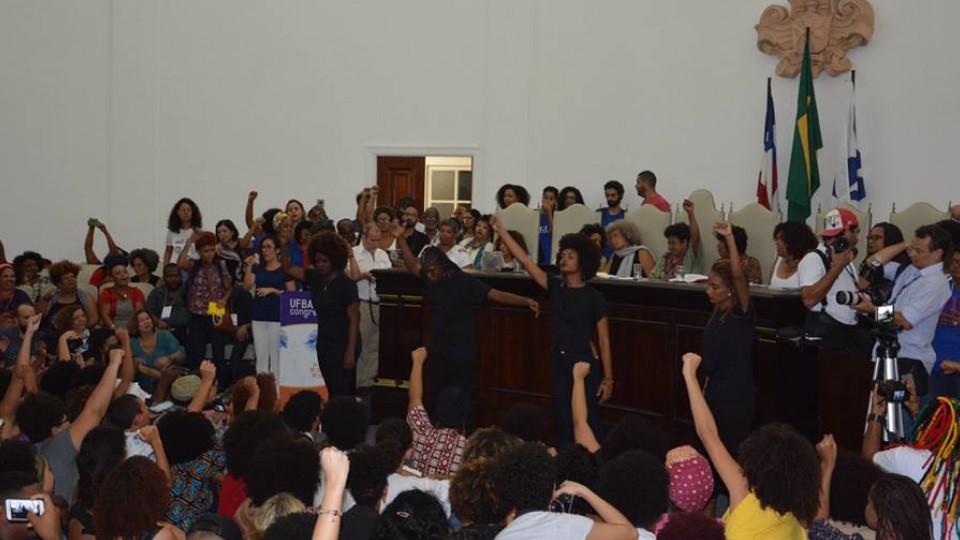 """Conferência """"Atravessando o tempo e construindo o futuro da luta contra o racismo"""", realizada pelo Dia Internacional da Mulher Latino-Americana e Caribenha, em Salvador"""
