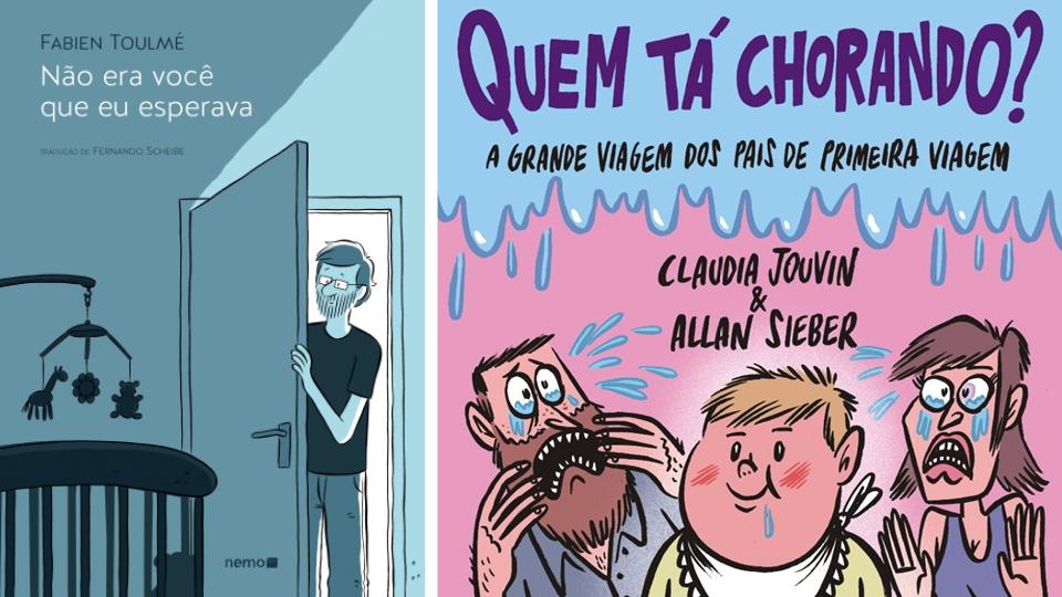 """""""Não era você que eu esperava"""", de Fabien Toulmé e """"Quem tá chorando?"""", de Allan Sieber"""