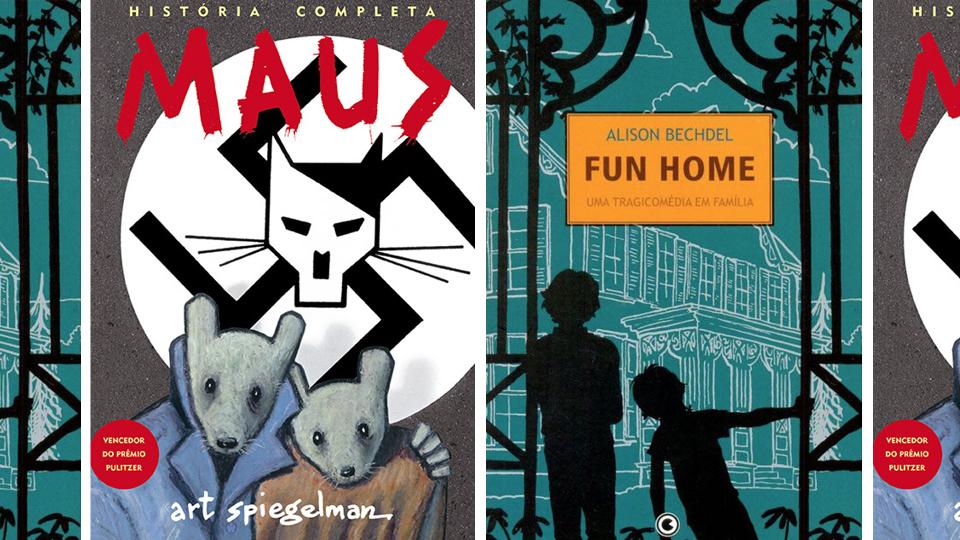 """""""Maus"""", de Art Spiegelman, e """"Fun Home"""", de Alison Bechdel"""