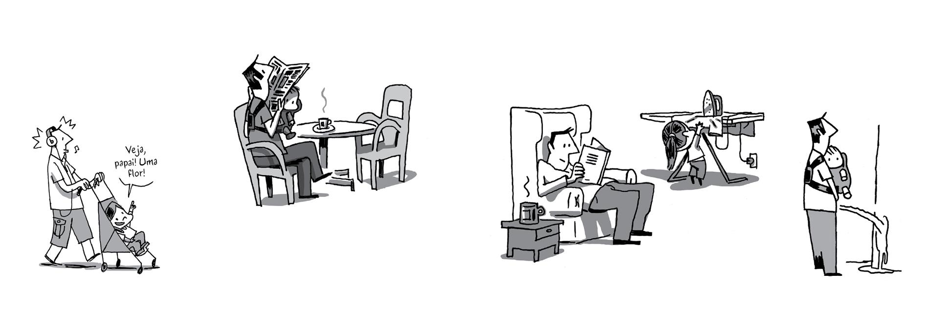 A paternidade em quadrinhos