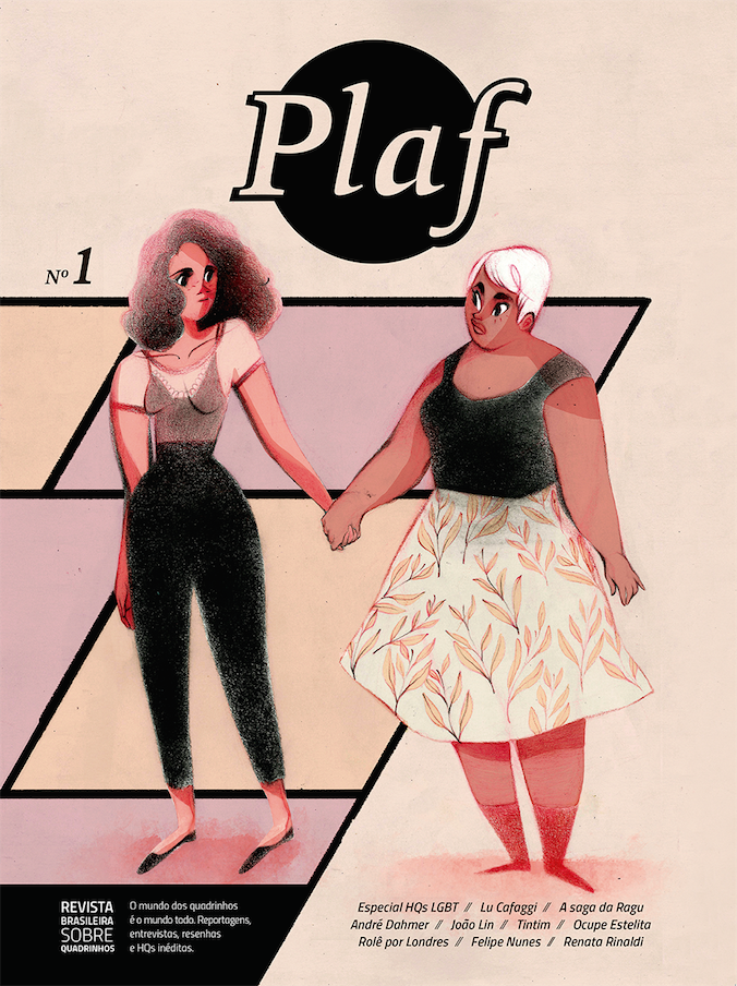 Plaf - A primeira edição da revista pernambucana será lançada no final do mês de agosto, com reportagens, entrevistas e resenhas, além de quadrinhos assinados por Lu Cafaggi, João Lin, Caio Oliveira e Raoni Assis.