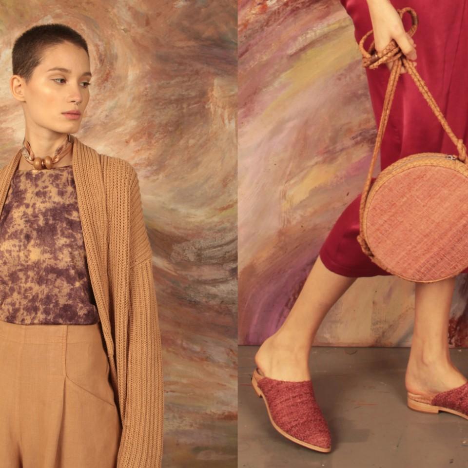 Nova coleção da estilista, tingida a partir do pau-brasil