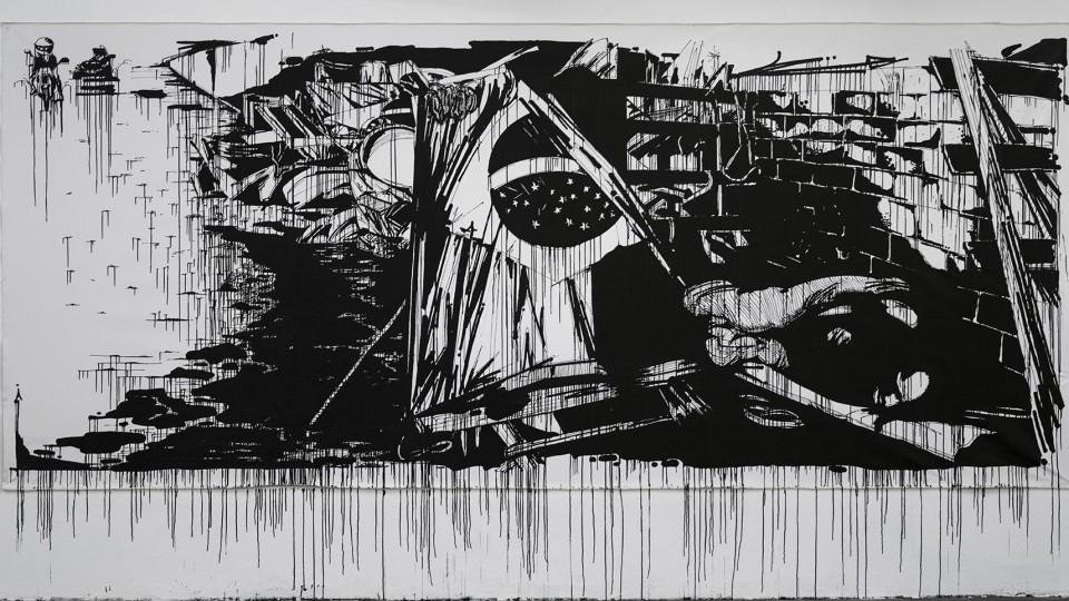 Uma das obras da série Interno, de Kadu Doy a.k.a. Sosek