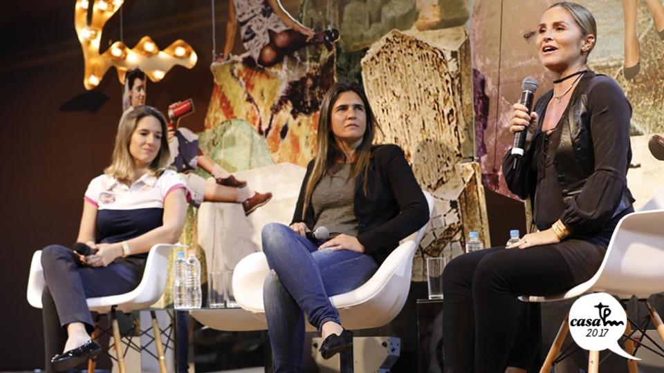 A pilota Bia Figueiredo e a treinadora da seleção brasileira de futebol feminino Emily Lima conversaram sobre os desafios para as mulheres no esporte, sob mediação da jornalista Juliana Moraes