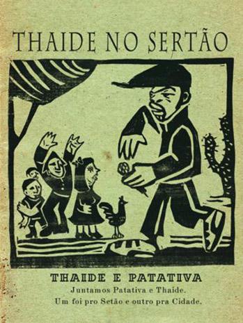 Reprodução de material gráfico de um projeto que uniu Thaíde e Patativa do Assaré
