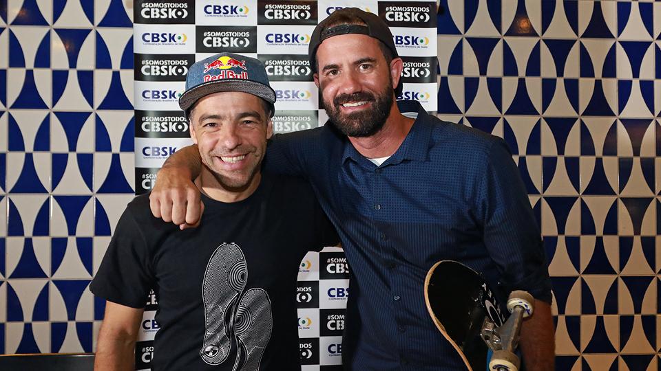 Sandro Dias e Bob Burnquist: nova diretoria da CBSK