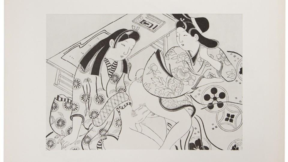 Gravura erótica japonesa do período Edo (1600 - 1868), à venda no Nuasis