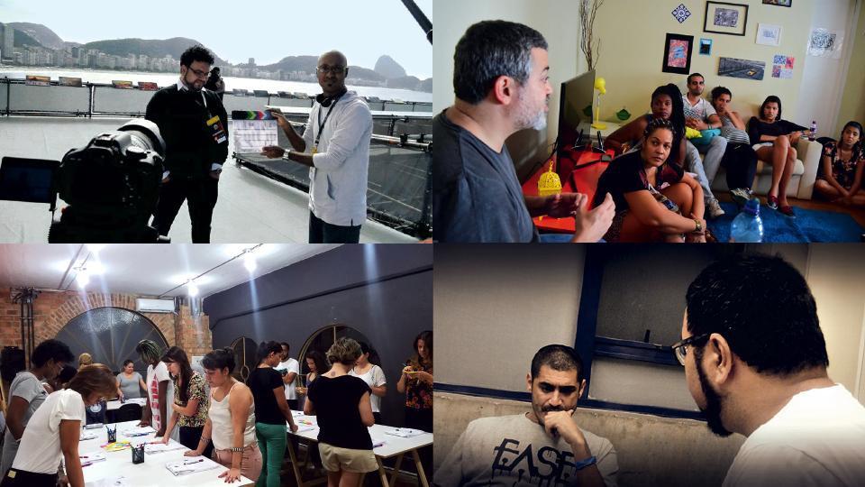 o produtor Rafael Dragaud visita a casinha Dharma, em 2014