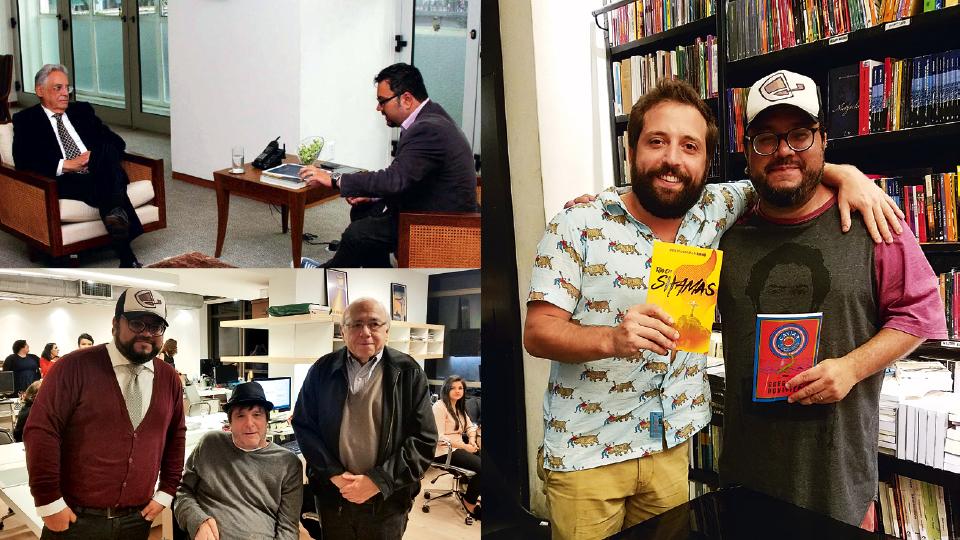 com Gregório Duvivier, na Livraria da Travessa, em 2016