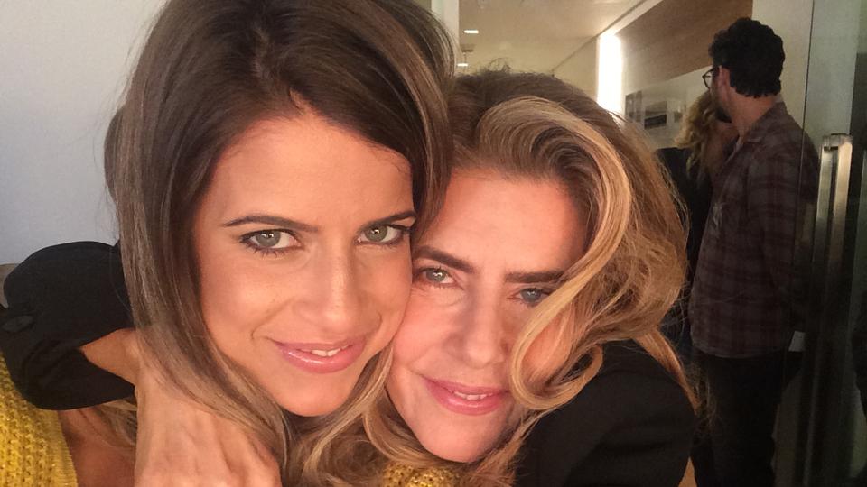 Com Maitê Proença, com quem contracena na 2ª temporada da série