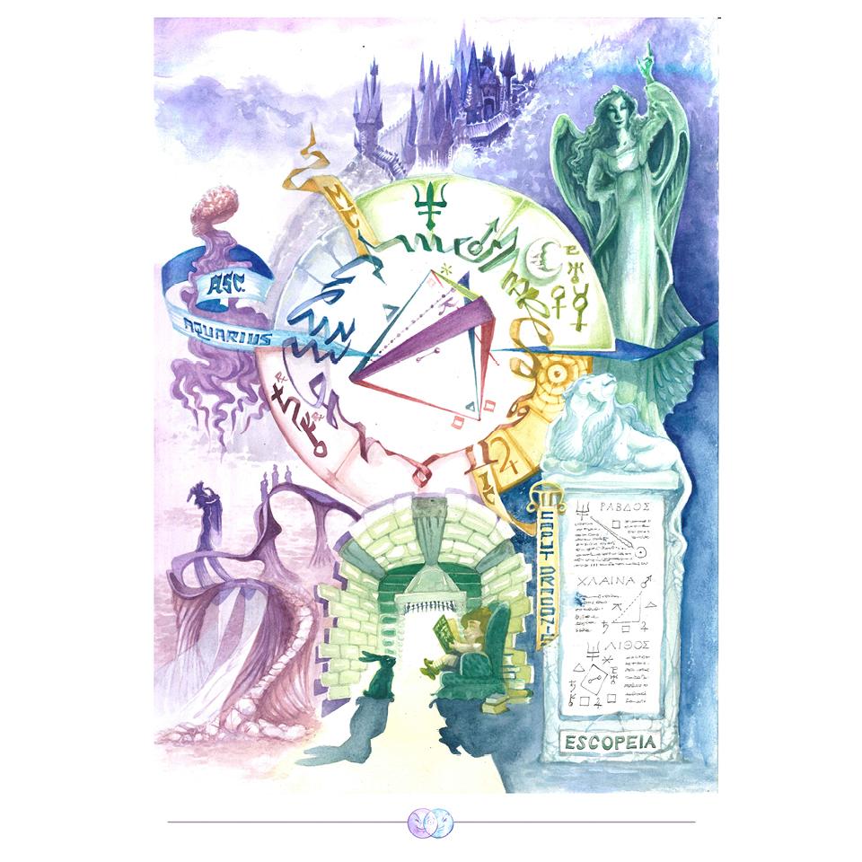 Mapa da escritora J.K. Rowling, com sol em Leão e ascendente em Aquário: há enredos de força criativa permeadas por experiências de aprendizado baseadas em dor e renascimento. O planeta Netuno na casa 9 leva a expansão para conhecimentos atemporais e transformação em matéria viva
