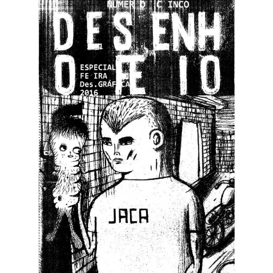 """Capa do zine """"Desenho Feio"""", do ilustrador JACA"""