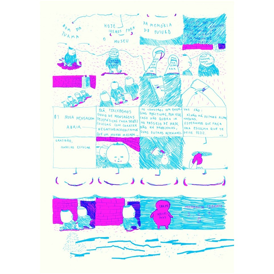Quadrinhos de Tais Koshino na coletânea Topografias, que será vendida na Des.gráfica