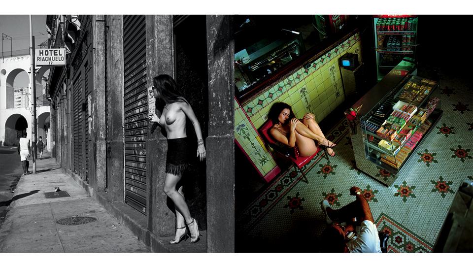 Dois ensaios de Bob que ficaram muito famosos: Nanda Costa (à esq.) e Alessandra Negrini